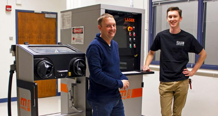 Image of Prof Andrew Wessman and Daniel McConville, of the Dept of Materials Science & Engineering.